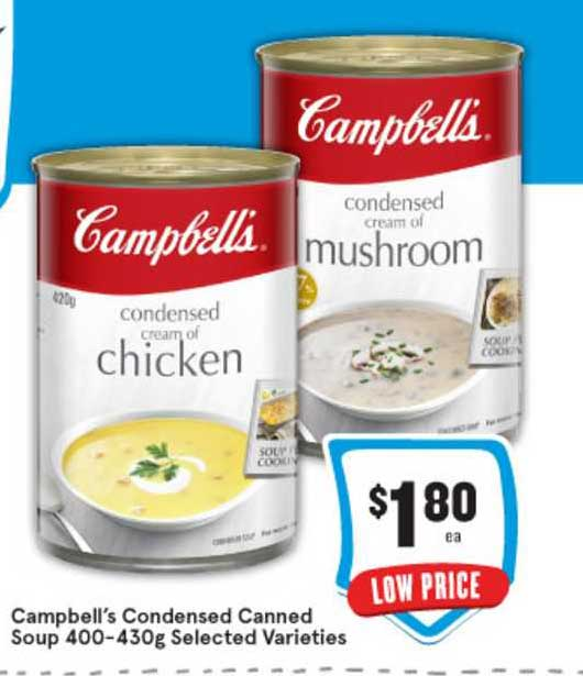 IGA Campbell's Condensed Canned Soup 400-430g