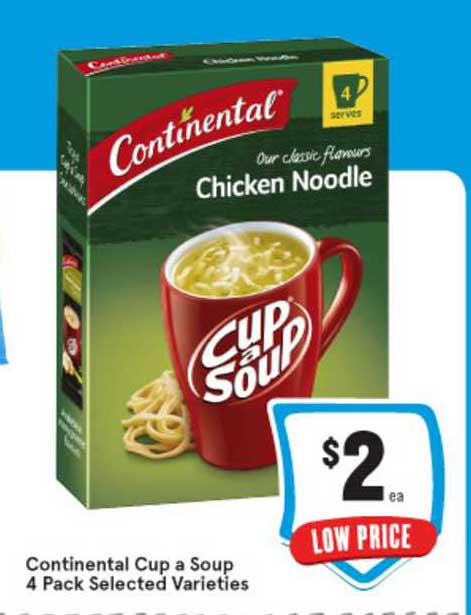 IGA Continental Cup A Soup 4 Pack