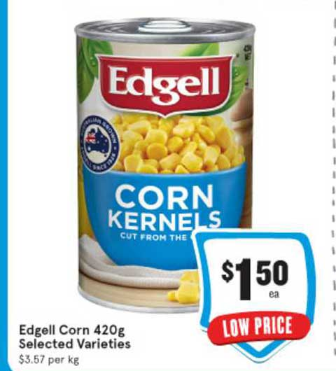 IGA Edgell Corn 420g
