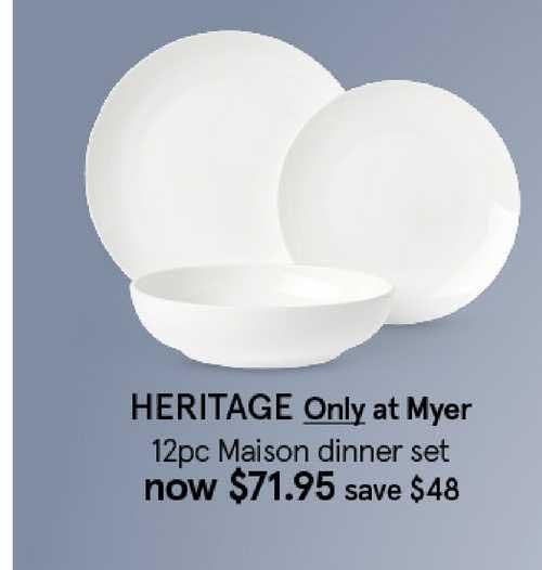 Myer HERITAGE Only At Myer 12pc Maison Dinner Set