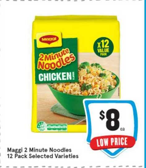 IGA Maggi 2 Minute Noodles 12 Pack