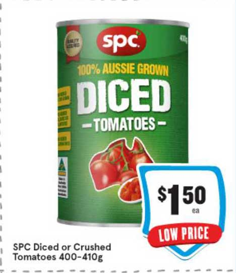 IGA SPC Diced Or Crushed Tomatoes 400-410g