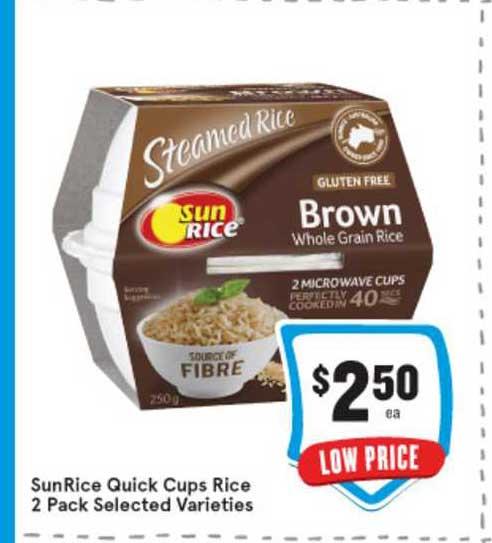IGA SunRice Quick Cups Rice 2 Pack