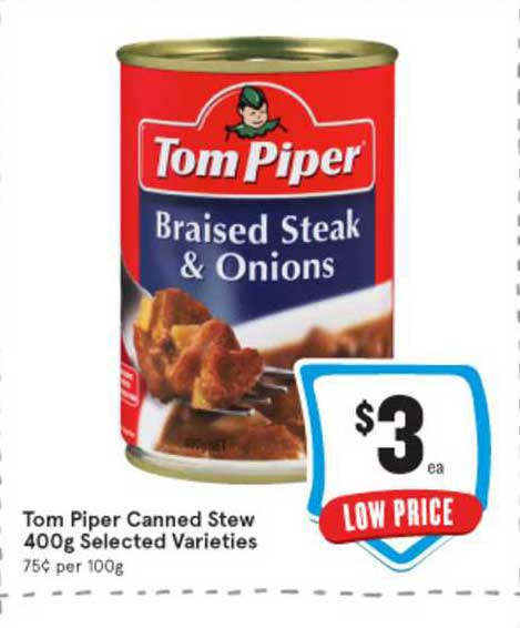 IGA Tom Piper Canned Stew 400g