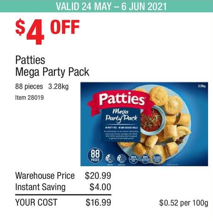 Costco Patties Mega Party Pack