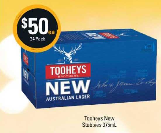 Cellarbrations Tooheys New Stubbies 375ml