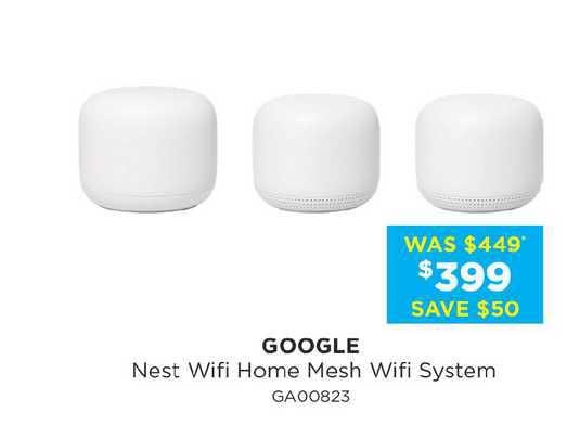 Bing Lee Google Nest Wifi Home Mesh Wifi System