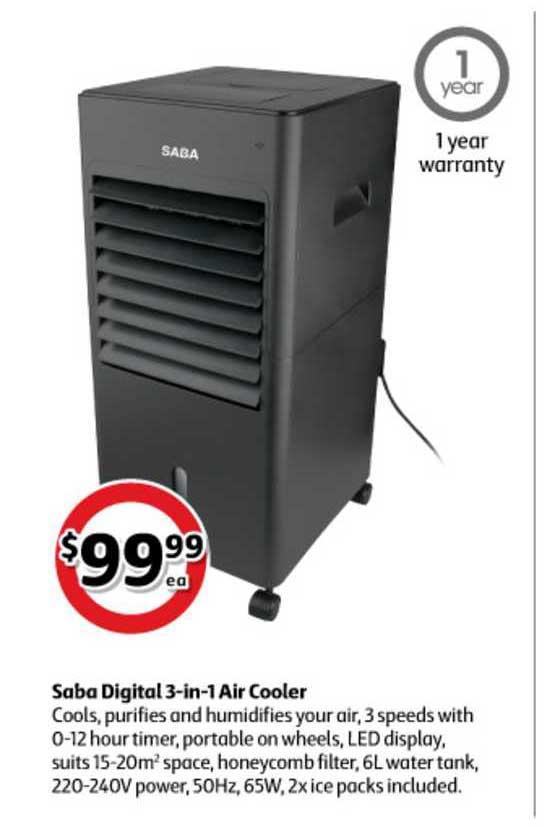 Coles Saba Digital 3-in-1 Cooler