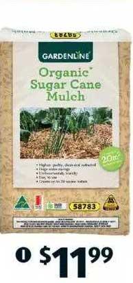 ALDI Gardenline Organic Sugar Cane Mulch