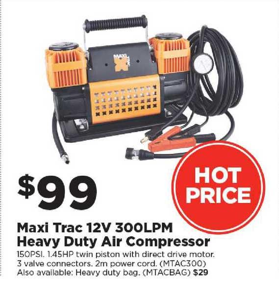 Repco Maxi Trac 12v 300lpm Heavy Duty Air Compressor