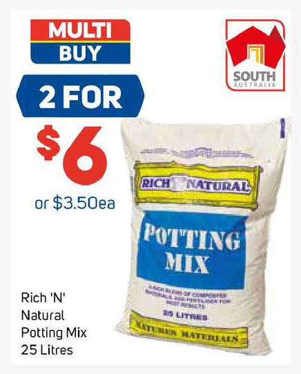 Foodland Rich 'n' Natural Potting Mix 25 Litres