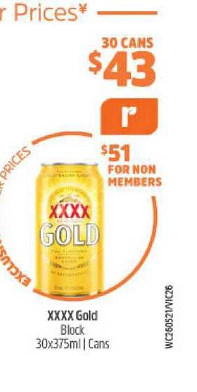 BWS Xxxx Gold Block