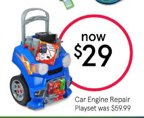 Myer Car Engine Repair Playset
