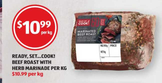 ALDI Ready Set...cook! Beef Roast With Herb Marinade