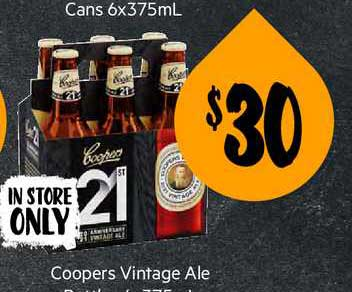 First Choice Liquor Coopers Vintage Ale