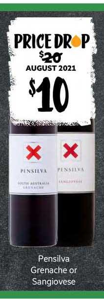 First Choice Liquor Pensilva Grenache Or Sangiovese