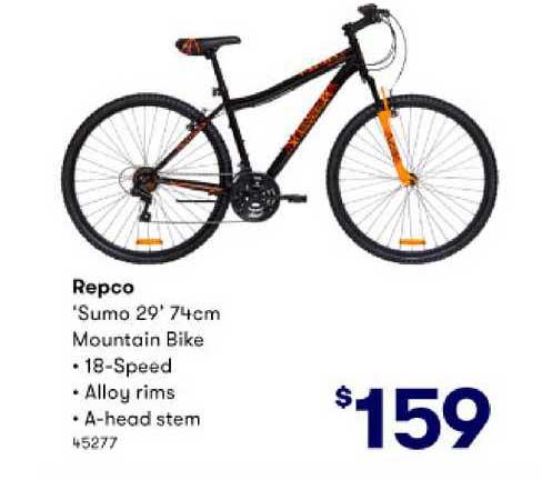 BIG W Repco 'sumo 29' 74cm Mountain Bike