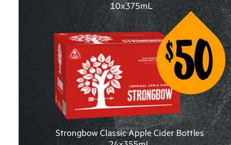 First Choice Liquor Strongbow Classic Apple Cider Bottles