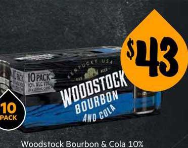 First Choice Liquor Woostock Bourbon & Cola 10%