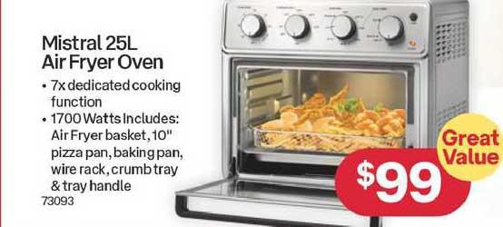 Australia Post Mistral 25l Air Fryer Oven