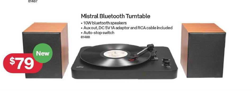 Australia Post Mistral Bluetooth Turntable