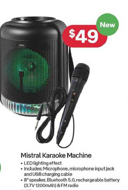 Australia Post Mistral Karaoke Machine