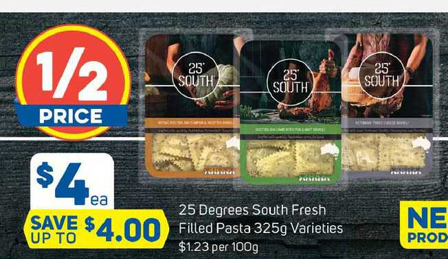 Foodland 25 Degrees South Fresh Filled Pasta 325g