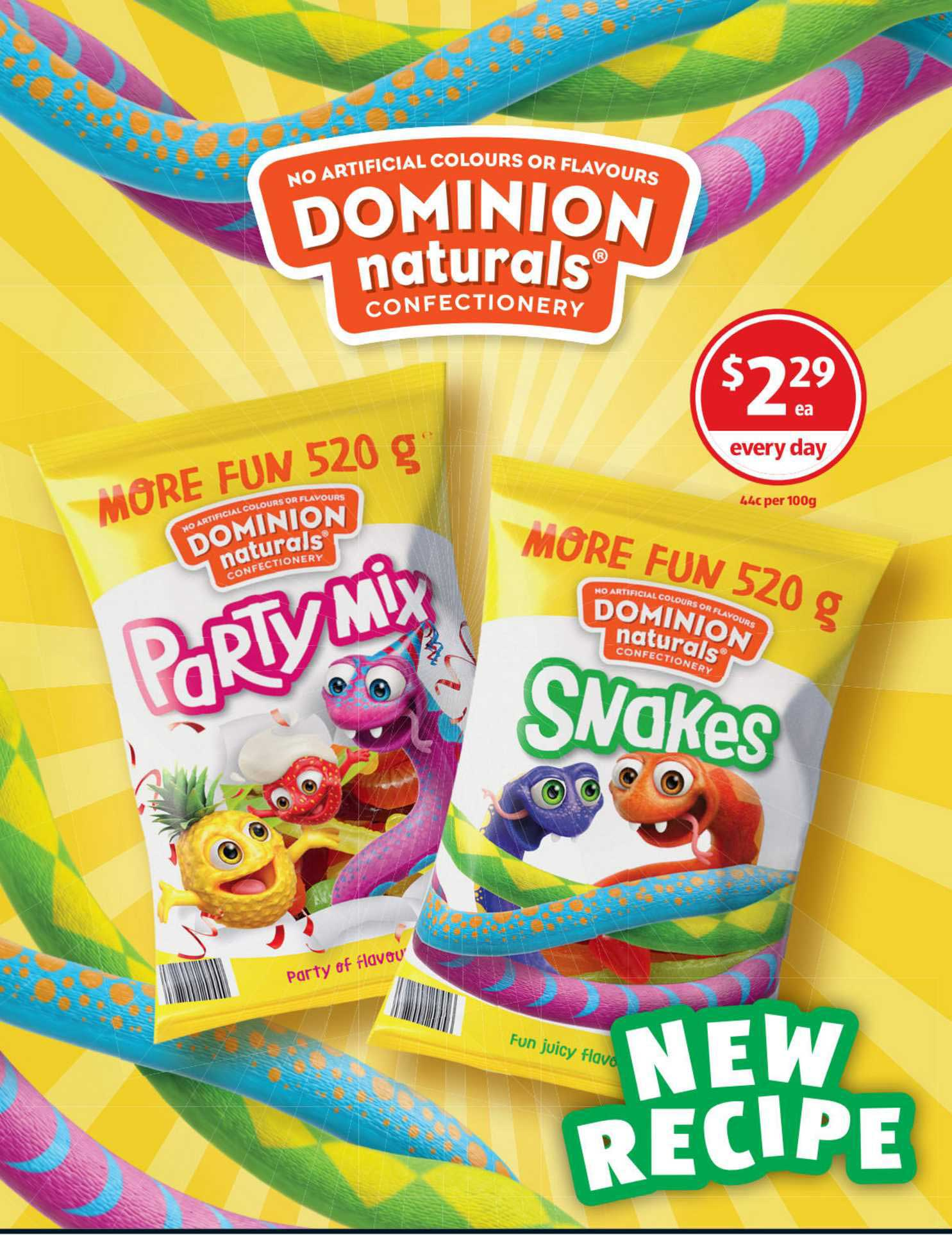 ALDI Dominion Naturals Party Mix Or Snakes