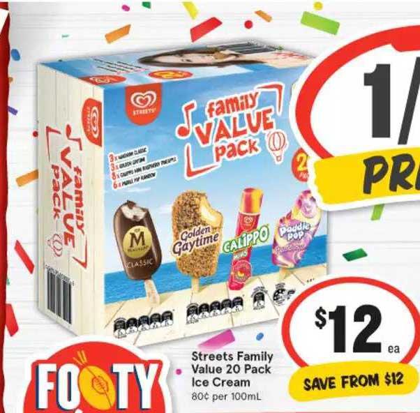 IGA Streets Family Value 20 Pack Ice Cream