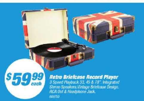 Supercheap Auto Retro Briefcase Record Player