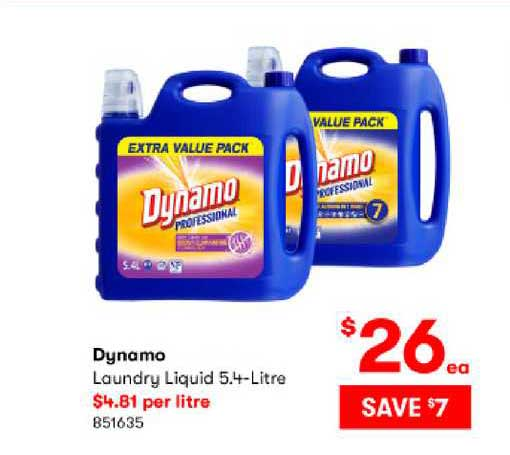 BIG W Dynamo Laundry Liquid 5.4-litre
