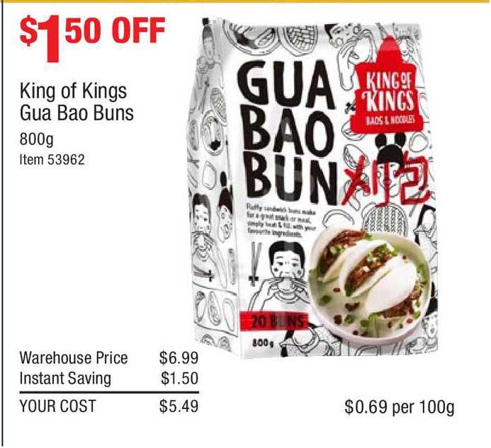 Costco King Of Kings Gua Bao Buns