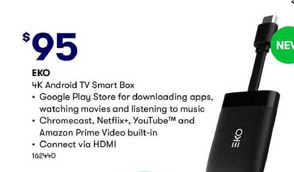 BIG W Eko 4k Android Tv Smart Box