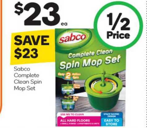 Woolworths Sabco Complete Clean Spin Mop Set