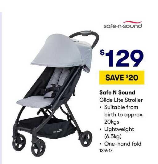 BIG W Safe N Sound Glide Lite Stroller