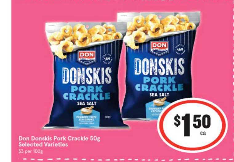 IGA Don Donskis Pork Crackle Selected Varieties