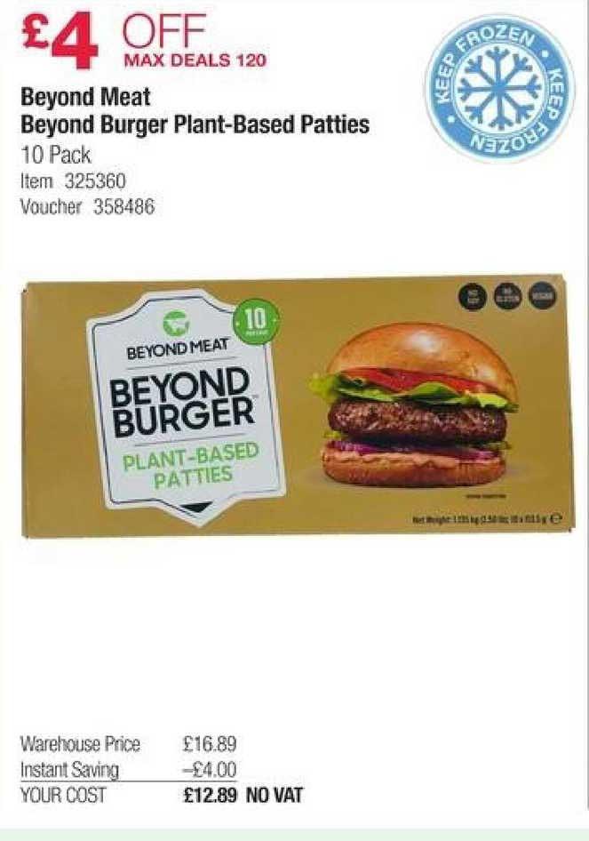 Costco Beyond Meat Beyond Burger Plant-based Patties