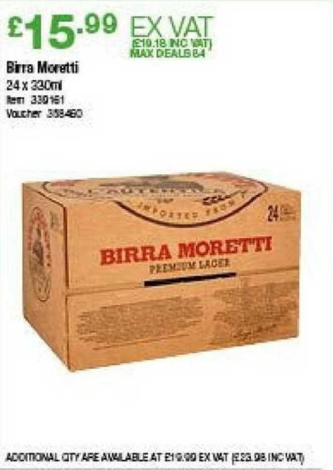 Costco Birra Moretti