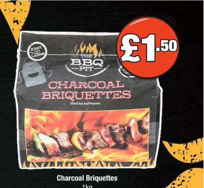 Poundland Charcoal Briquettes 1Kg