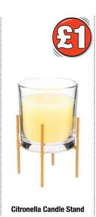 Poundland Citronella Candle Stand