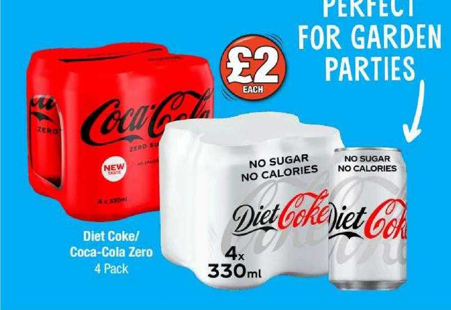 Poundland Diet Coke-Coca-Cola Zero 4 Pack