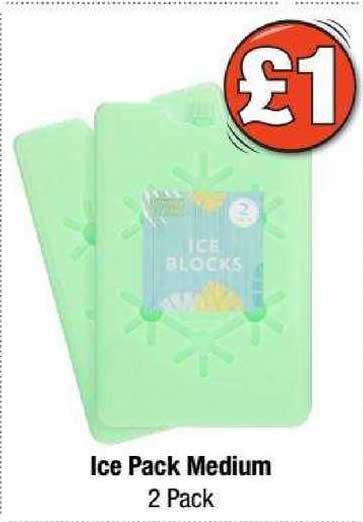 Poundland Ice Pack Medium 2 Pack