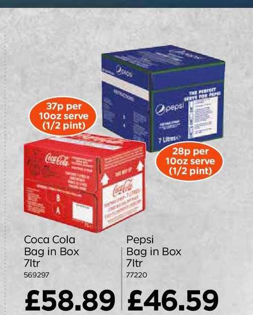 Bestway Coca Cola Bag In Box Pepsi Bag In Box 7ltr