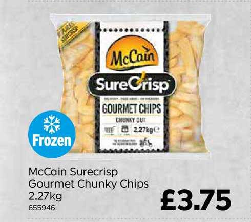 Bestway McCain Surecrisp Gourmet Chunky Chips
