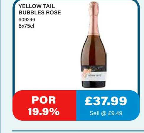 Bestway Yellow Tail Bubbles Rose