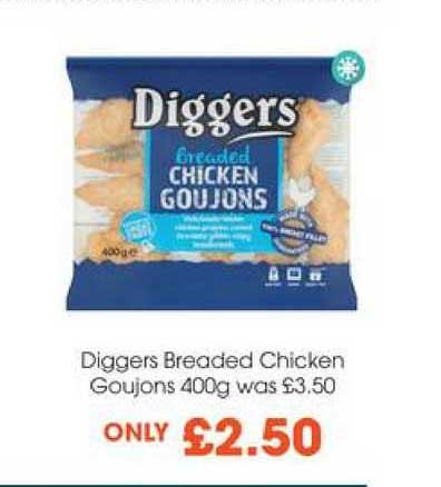 Centra Diggers Breaded Chicken Goujons 400g