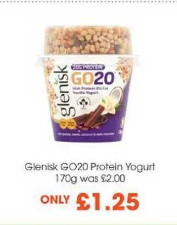 Centra Glenisk GO20 Protein Yogurt 170g