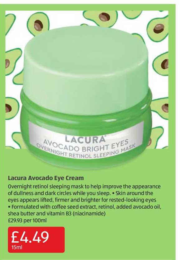 Aldi Lacura Avocado Eye Cream