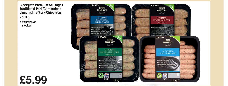 Makro Blackgate Premium Sausages Traditional Pork