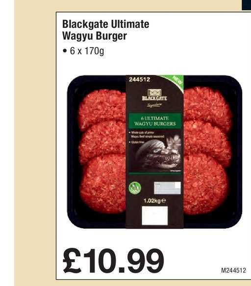 Makro Blackgate Ultimate Wagyu Burger